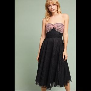 NWT ANTHROPOLOGIE ANNA SUI PLEATED LACE DRESS